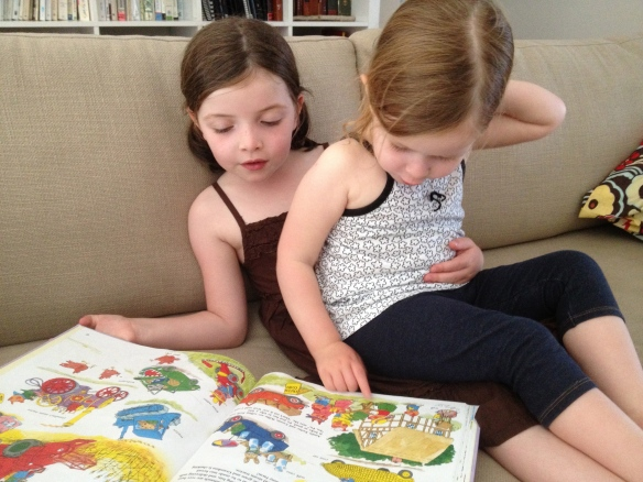 Snuggling up to read with Richard Scarry